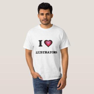 I Love Illustrators T-Shirt