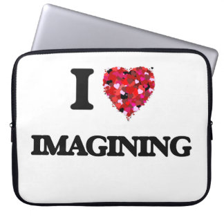 I Love Imagining Laptop Computer Sleeve