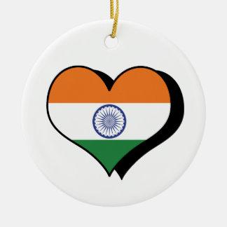 I Love India Ornament