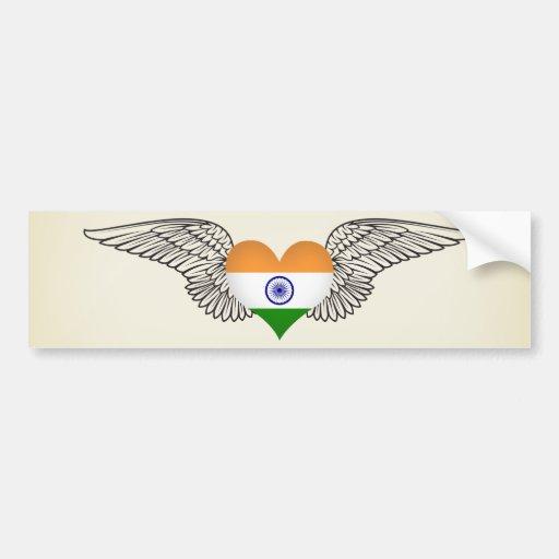 I Love India -wings Bumper Sticker
