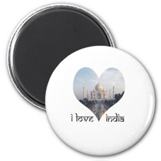 I Love India with Taj Mahal Magnet