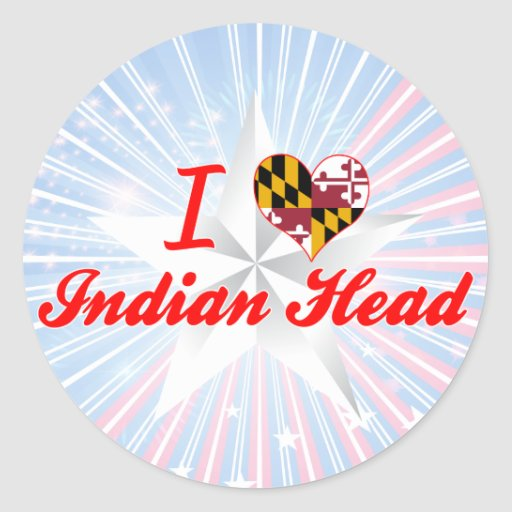 I Love Indian Head, Maryland Stickers