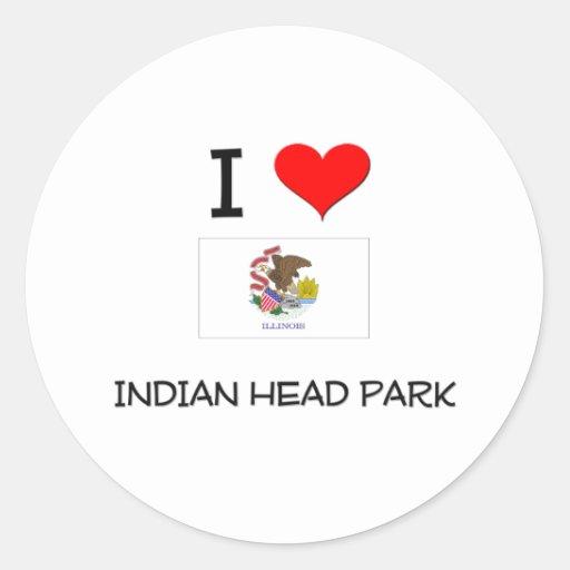 I Love INDIAN HEAD PARK Illinois Sticker