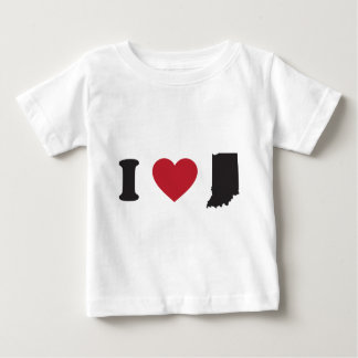 I Love Indiana Baby T-Shirt