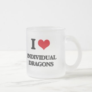 I love Individual Dragons Frosted Glass Mug