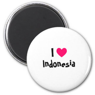 I Love Indonesia Magnet