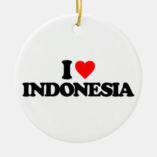 I LOVE INDONESIA CHRISTMAS TREE ORNAMENT