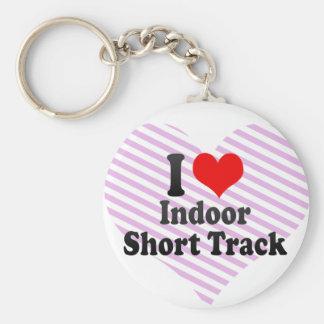 I love Indoor Short Track Basic Round Button Keychain