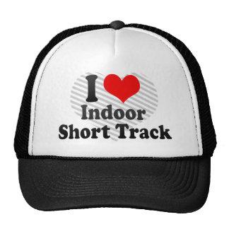 I love Indoor Short Track Mesh Hat
