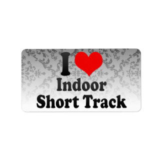 I love Indoor Short Track Custom Address Label