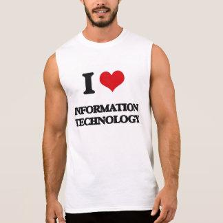 I Love Information Technology Sleeveless Shirts