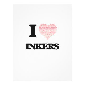 I love Inkers (Heart made from words) Flyer Design