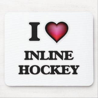 I Love Inline Hockey Mouse Pad