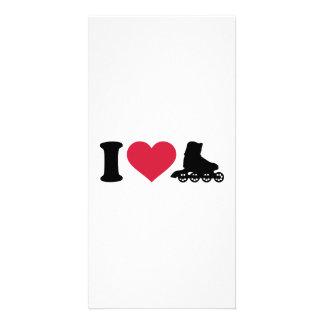 I love Inline skates Photo Card