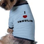 I Love Insulin Dog T-shirt