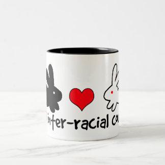 I Love Inter-racial Couples Two-Tone Coffee Mug