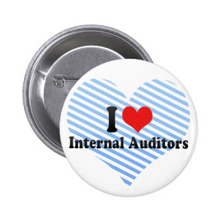 I Love Internal Auditors 2 Inch Round Button
