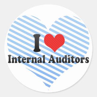 I Love Internal Auditors Round Sticker