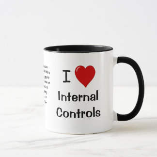 I Love Internal Controls - Triple Sided & Cheeky Mug