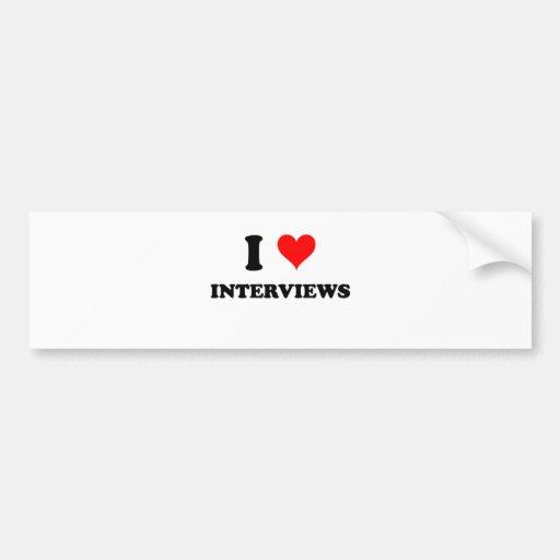 I Love Interviews Bumper Sticker