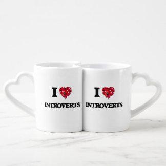 I Love Introverts Lovers Mug Set