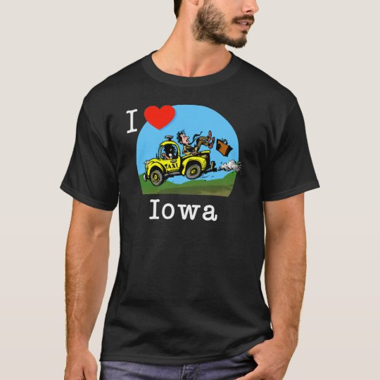 I Love Iowa Country Taxi T-Shirt