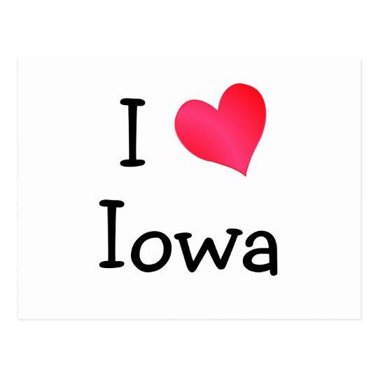 I Love Iowa Postcard