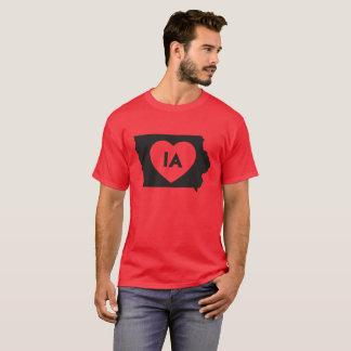 I Love Iowa State Men's Basic Dark T-Shirt