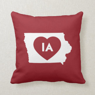 "I Love Iowa State Throw Pillow 16"" x 16"""
