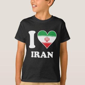 I Love Iran Iranian Flag Heart T-Shirt