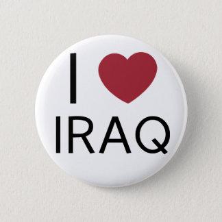 I Love Iraq Badge 2 Inch Round Button