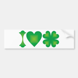 I Love Ireland Bumper Sticker