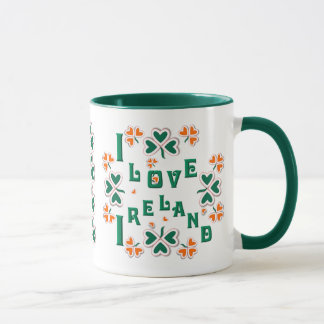 I LOVE IRELAND ~ Ringer Mug