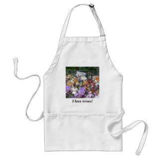 I love irises! standard apron