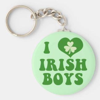 I Love Irish Boys Keychain