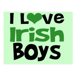 I love Irish Boys Postcard