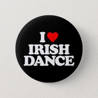 I LOVE IRISH DANCE 2 INCH ROUND BUTTON