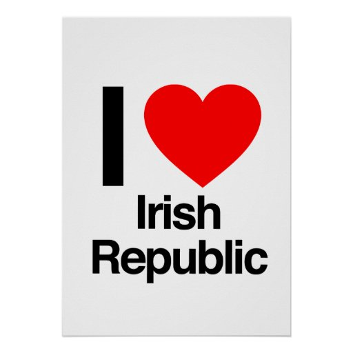 i love irish republic print