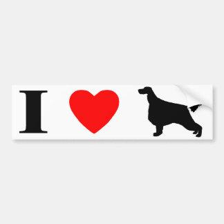 I Love Irish Setters Bumper Sticker