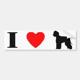 I Love Irish Water Spaniels Bumper Sticker