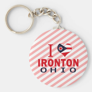 I love Ironton, Ohio Keychain