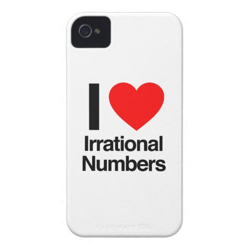 i love irrational numbers iPhone 4 case