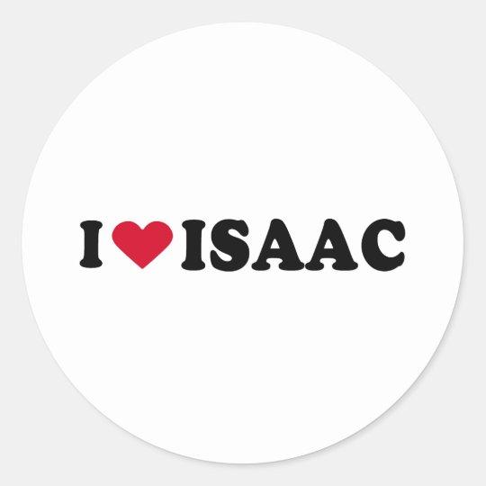 I LOVE ISAAC CLASSIC ROUND STICKER