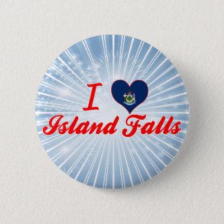 I Love Island Falls, Maine 2 Inch Round Button
