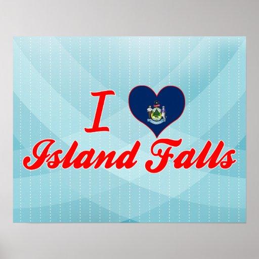 I Love Island Falls, Maine Print