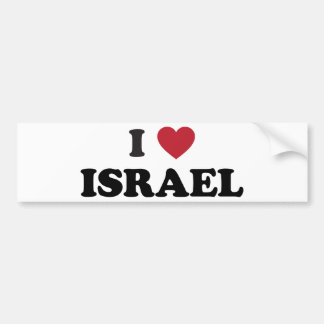 I Love Israel Bumper Sticker