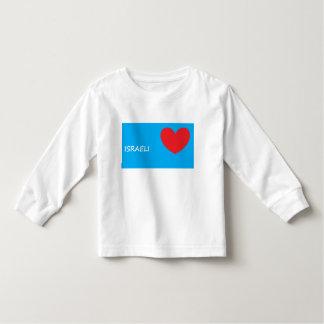 'I Love Israel' Long-Sleeve Toddler Shirt