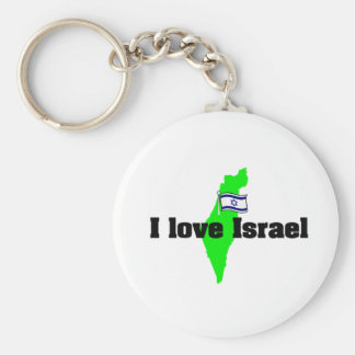 i love israel products keychain
