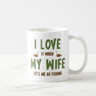 I Love It When My Wife Lets Me Go Fishing Coffee Mug