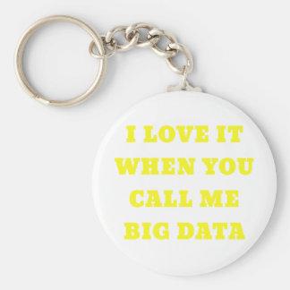 I Love It When You Call Me Big Data Keychain